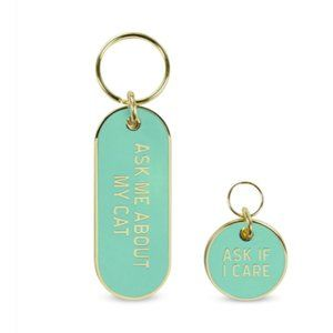Cat People & Pet Tags Keychain Gift Set New Fred
